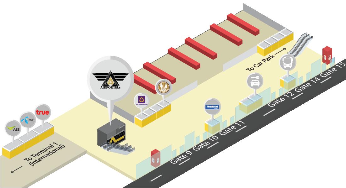 에어포텔(AIRPORTELs) 돈므앙 공항 (DMK) 지도