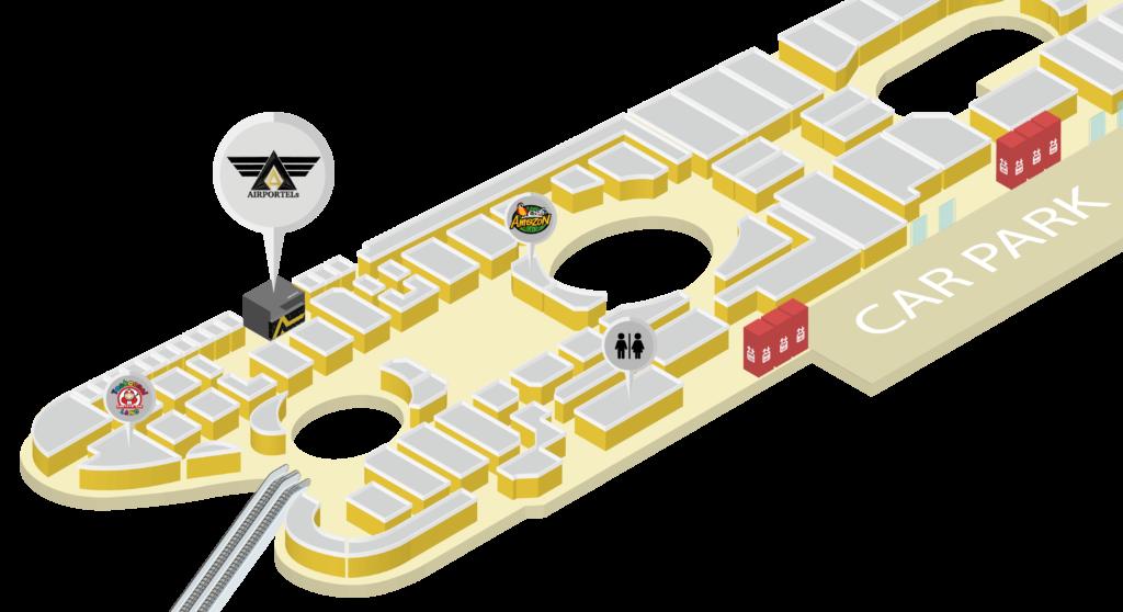 에어포텔(AIRPORTELs) 터미널 21 파타야 지도