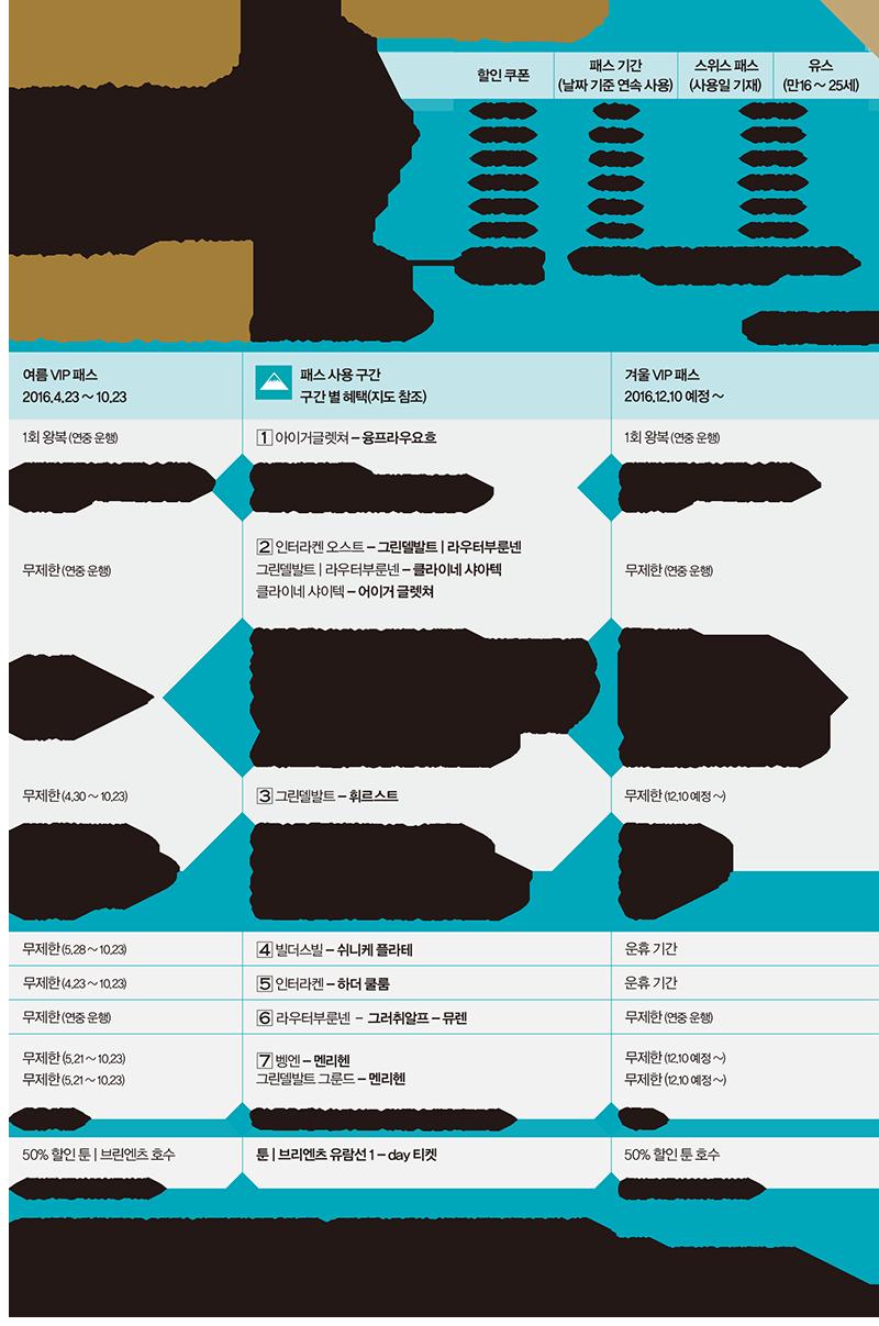 트래블맵 스위스 융프라우 철도·VIP 패스 할인쿠폰