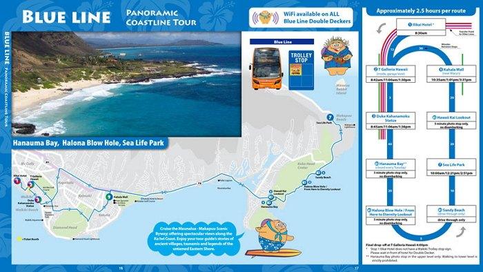 하와이 해안선 관광 투어